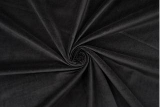 Велюр хлопковый черный BRS-K60 12072119