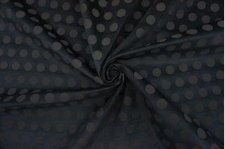 Велюр хлопковый черный в горох TRC-K60 12072123