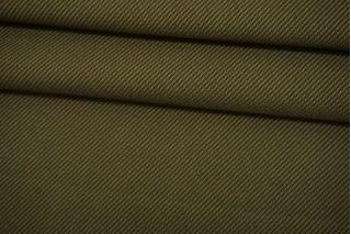 Хлопок костюмный зеленый хаки Thom Browne TRC-D20 12072130