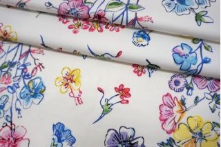 Сатин плательный цветочный Monnalisa TRC-D30 12072140