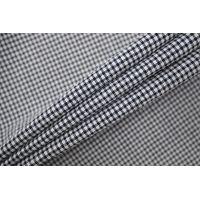 Хлопок-сирсакер рубашечный в клетку сине-белый TRC-B50 12072142