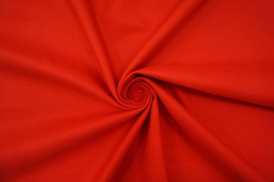 Хлопок костюмный диагональный красный BRS-C40 12072151