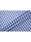 Хлопок рубашечный в клетку бело-синий TRC-B50 12072169