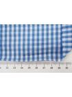 Хлопок рубашечный в клетку бело-синий TRC-B50 12072170