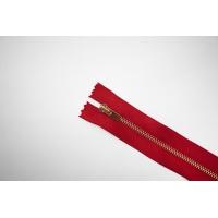 Молния металлическая атласная YKK красная 28 см C13 14072462