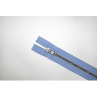 Молния металлическая голубая 12 см C13 14072491