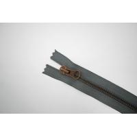Молния металлическая YKK темно-серая 16 см B16 14072500