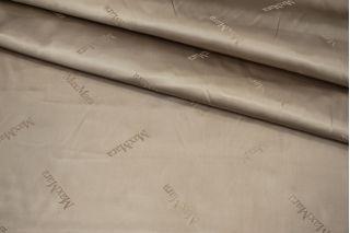 Подкладочная ткань атласная бежевая Max Mara FRM 19072104