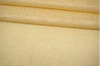 Трикотаж льняной в полоску желто-белый Forte Forte TRC-O60 19072119