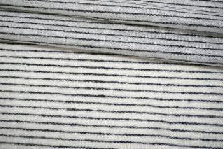 Трикотаж льняной в полоску сине-белый Forte Forte TRC.H-O50 19072122