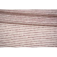 Трикотаж льняной в полоску вишнево-белый Forte Forte TRC-O60 19072123