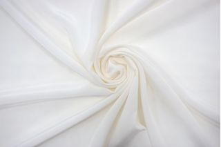 Крепдешин тонкий бело-молочный FRM-N60 02062116