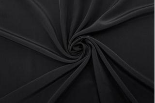 Крепдешин тонкий черный FRM-N60 02062117