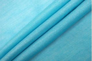 Трикотаж шелковый с вискозой бирюзово-голубой FRM-Y20 03052114
