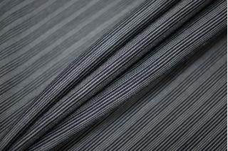 Трикотаж шелковый с вискозой черно-серый FRM-Y20 03052117