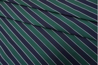Репс костюмный в полоску сине-зеленый SVR.H-M40 03052134