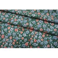 Штапель цветочки на зеленом фоне BRS-j60 04062103