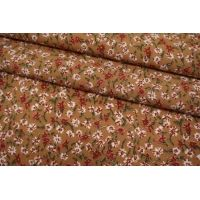 Штапель цветочки на охристом фоне BRS-j60 04062110