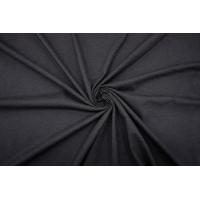 Трикотаж хлопковый со льном черный IDT.H-R10 060421103