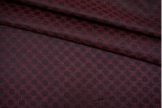 Подкладочная ткань черно-бордовая орнамент Corneliani FRM-Z16 13052137