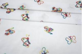 Вышивка на хлопке бабочки SMF-E30 15052113