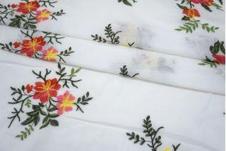 Вышивка на хлопке цветы SMF-E20 15052117
