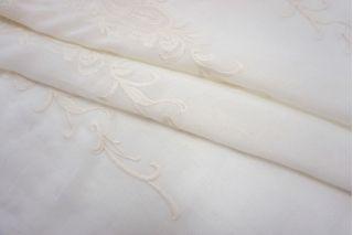 Шитье на льняной вуали с шерстью SMF-E20 15052118