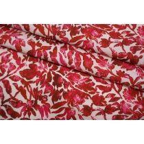 ОТРЕЗ 2,65 М Поплин мерсеризованный рубиновые цветы Max Mara SVM-(44)- 24052102-1