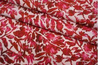 Поплин мерсеризованный рубиновые цветы Max Mara SVM-A50 24052102
