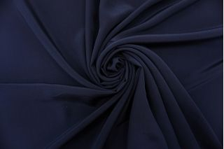 Крепдешин тонкий темно-синий Max Mara SVM-N60 24052104