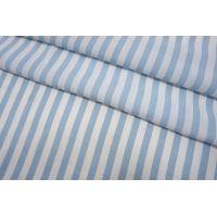 Креповая вискоза полоска бело-голубая Max Mara SVM-H20 24052105