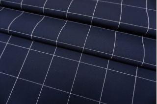 Костюмная ткань темно-синяя в клетку Max Mara SVM-G20 24052106