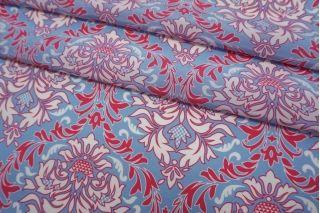 Крепдешин орнамент малиново-голубой Max Mara SVM-N40 24052108