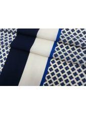 Крепдешин орнамент синий КУПОН Max Mara SVM-M50 24052109