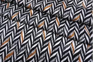 Плательно-блузочный сатин вискозный орнамент Max Mara SVM-J50 24052113