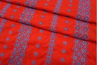 Шитье хлопковое красно-голубое Max Mara SVM-E20 24052115