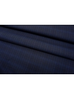 Хлопок рубашечный в клетку темно-синий SMF-B70 24052130