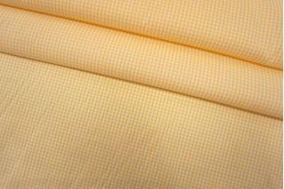 Хлопок рубашечный в клетку желто-белый SMF-B50 24052139