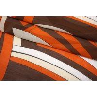 Батист шелковый с хлопком абстракция рыже-коричневая SMF-N30 24052141