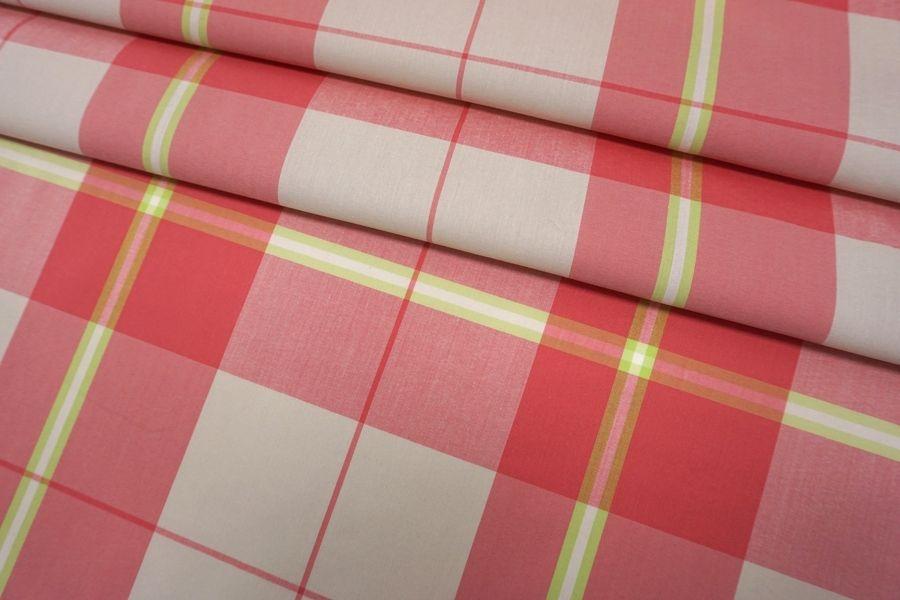 Хлопок рубашечный в клетку бежево-розовый SMF-B50 24052145