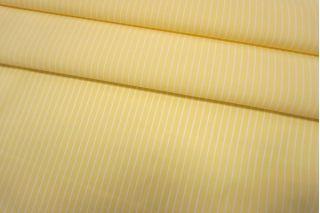 Хлопок рубашечный в полоску желто-белый SMF-B50 24052151