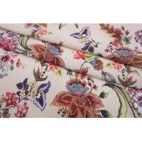 Штапель цветы на бледно-розовом фоне SMF-I50 24052152