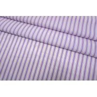 Хлопок рубашечный в полоску бело-сиреневую SMF-A70 24052155