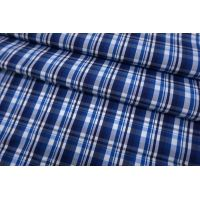 Хлопок рубашечный в клетку бело-синий SMF-B50 24052172