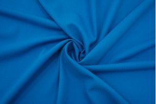 Креп плательный шерстяной сине-голубой La Perla FRM-DD40 20082107