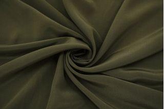Крепдешин тонкий зеленый хаки FRM-N60 20082132