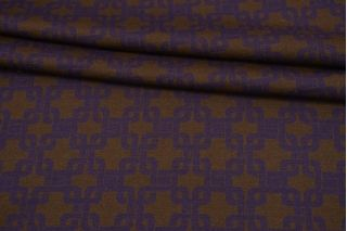 Джерси шерстяной узор фиолетово-коричневый FRM.H-X20 20082138