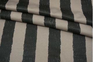 Джерси синтетический кофейно-серый в полоску FRM-X60 21082124