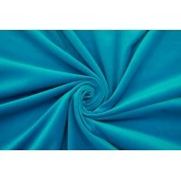 Бархат костюмный хлопковый яркий бирюзово-голубой SMF-K60 22082131