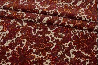 Бархат хлопковый цветы и бабочки SMF-K50 22082147